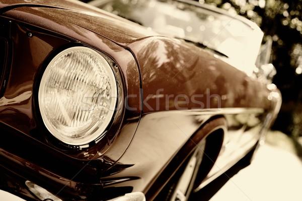 Fragment of retro car Stock photo © Nejron