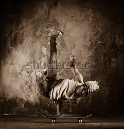 Quadro moço nu torso acrobático homem Foto stock © Nejron