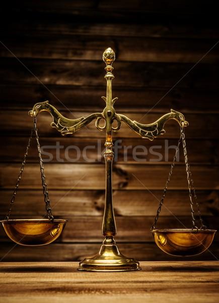 Latón escalas signo ley justicia Foto stock © Nejron