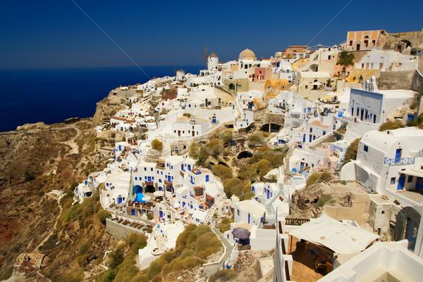 Piękna krajobraz widoku santorini wyspa Grecja Zdjęcia stock © Nejron