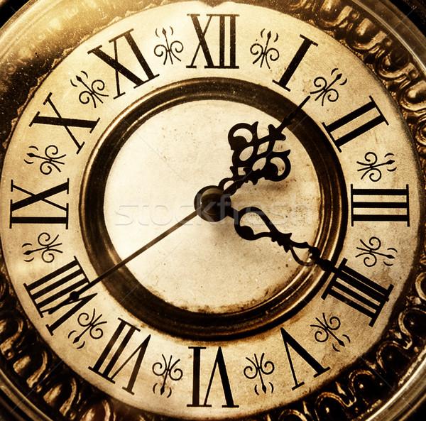 Oude antieke klok ontwerp zwarte horloge Stockfoto © Nejron