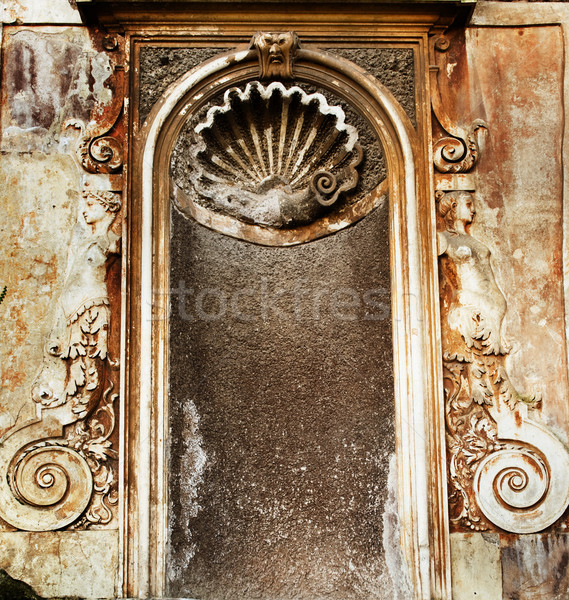 Zdjęcia stock: Starożytnych · budynku · kwiat · ściany · projektu · architektury