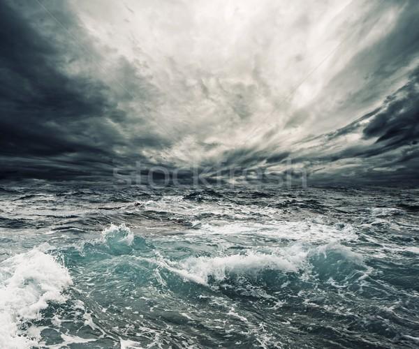 海 嵐 ビーチ 水 雲 自然 ストックフォト © Nejron