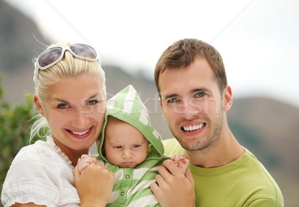 Stock photo: Happy family outdoors
