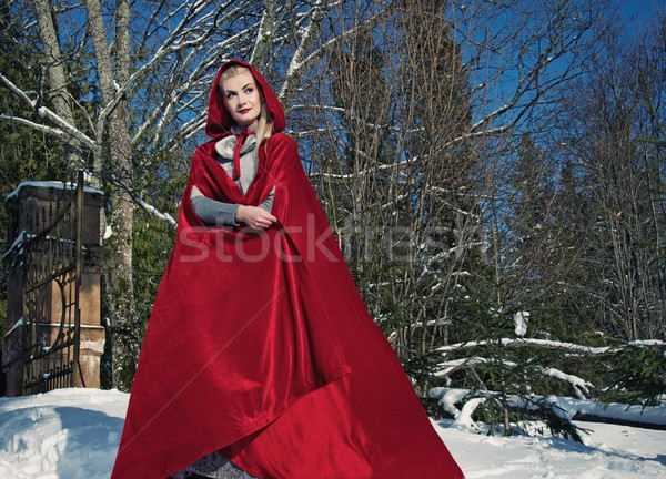 Red Hood standing Stock photo © Nejron