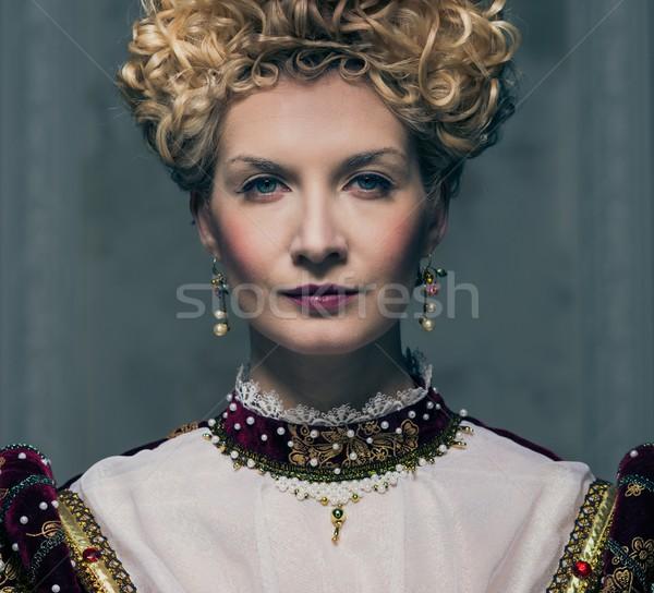 Portrait of beautiful haughty queen Stock photo © Nejron