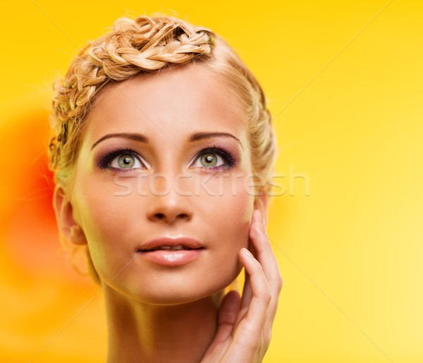 Beautiful young blond woman portrait Stock photo © Nejron