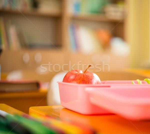 Alimentare contenitore mela insalata classe sfondo Foto d'archivio © Nejron