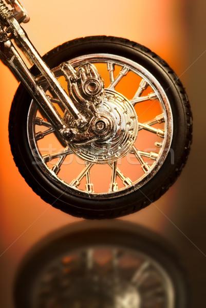 Motorcycle wheel on abstract background Stock photo © Nejron