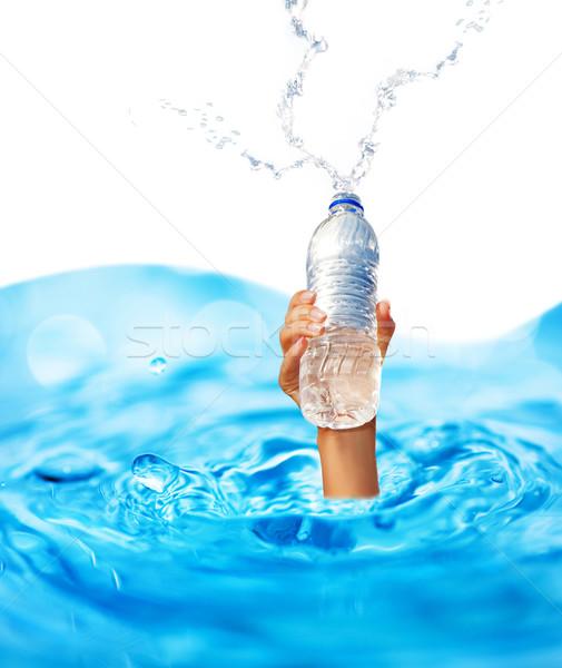 Mano umana bottiglia acqua fitness successo Foto d'archivio © Nejron