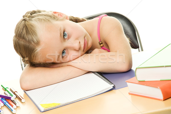 Picture of a little schoolgirl Stock photo © Nejron