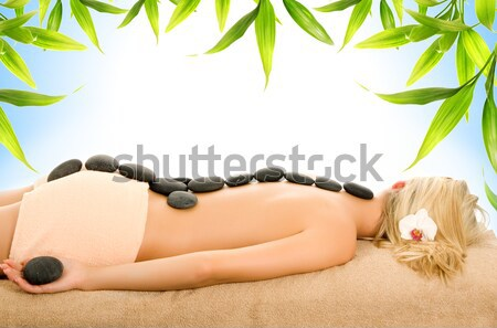 Massage with hot volcanic stones 