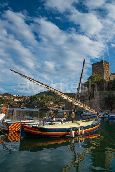 Colorido barcos agua océano barco ola Foto stock © Nejron