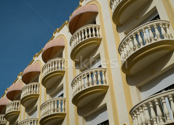 Beautiful balconies in town of Sitges, Spain Stock photo © Nejron