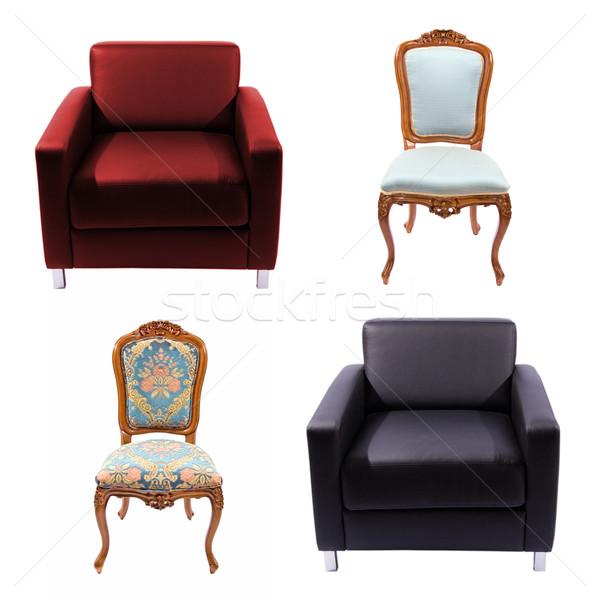 Furniture set isolated on white Stock photo © Nejron