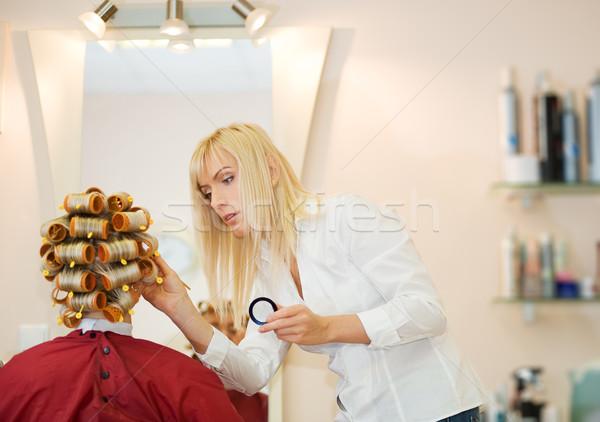 салон красоты лице моде работу голову Сток-фото © Nejron