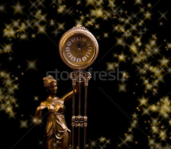 Lujo antiguos reloj mano cara diseno Foto stock © Nejron