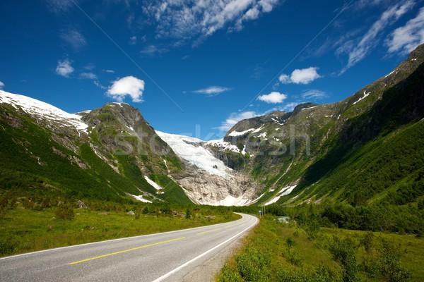 Weg noors bergen hemel natuur landschap Stockfoto © Nejron