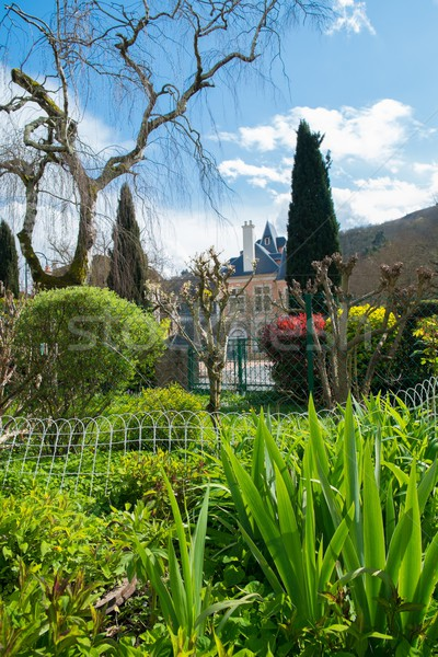 Beautiful garden in old Ambialet village, France  Stock photo © Nejron
