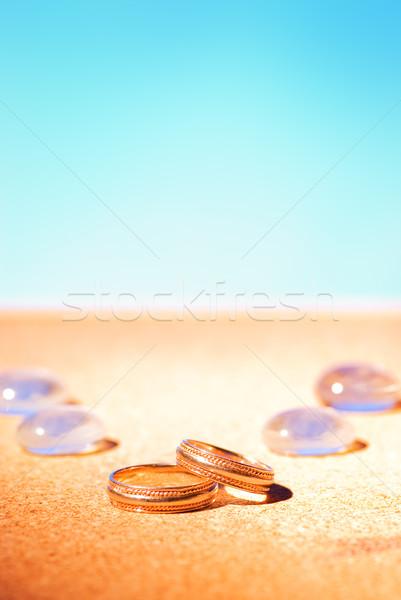 Golden wedding rings Stock photo © Nejron