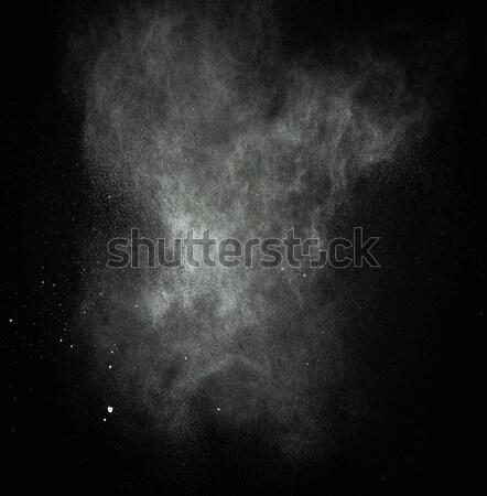Bianco polvere isolato bianco nero nero nubi Foto d'archivio © Nejron