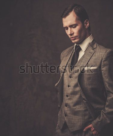 Well-dressed man in grey suit Stock photo © Nejron