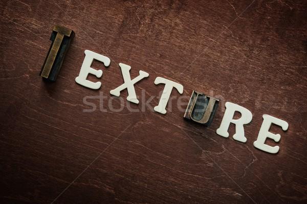 The word texture written on wooden background Stock photo © Nejron