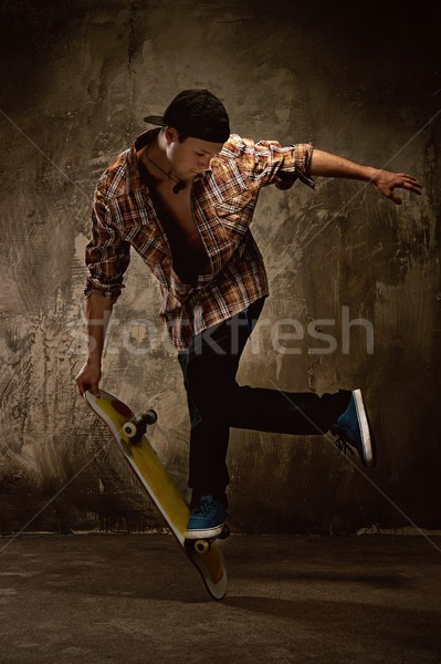 Skater doing a trick Stock photo © Nejron