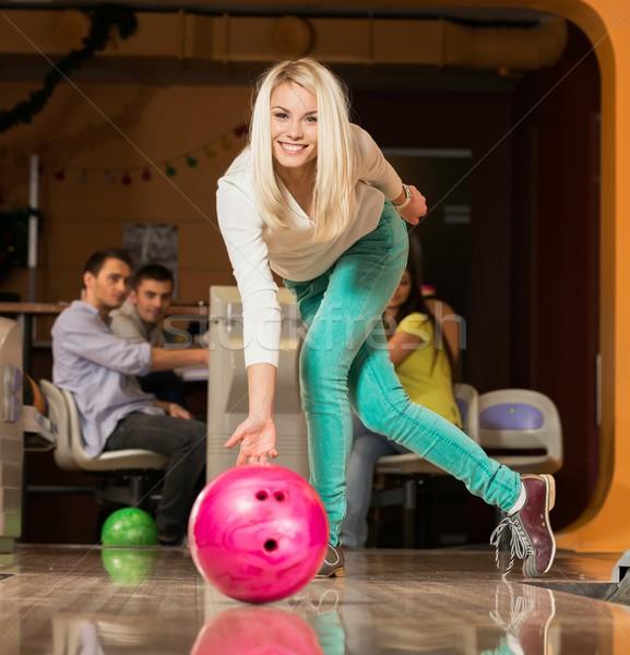 Menschen beobachten jungen blond Frau Stock foto © Nejron