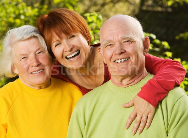 Dochter buitenshuis glimlach gezicht man Stockfoto © Nejron