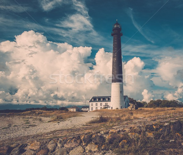 Lighthouse and keeper's house near beautiful bay  Stock photo © Nejron