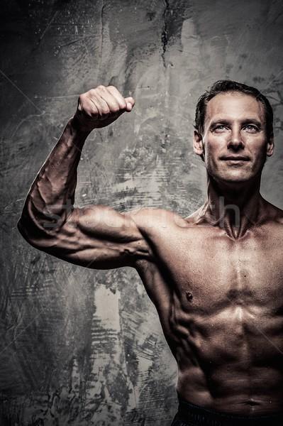 Homme corps musclé sport fitness exercice Photo stock © Nejron