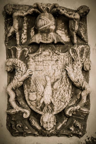 Coat-of-arms made from stone Stock photo © Nejron