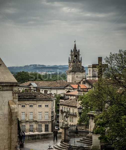 View from hill near Palais des Papes in Avignon, France Stock photo © Nejron