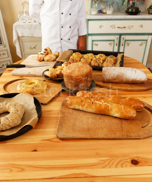 Table with lot of homemade baked goods Stock photo © Nejron