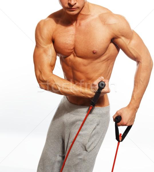 美男子 強健的身體 健身 行使 健身房 肌肉 商業照片 © Nejron