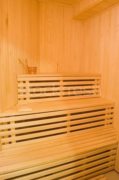 Sauna foto interieur hout ontspannen spa Stockfoto © Nejron