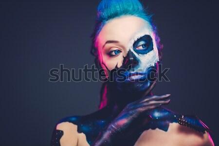 таинственный женщину драматический женщины моде дизайна Сток-фото © Nejron