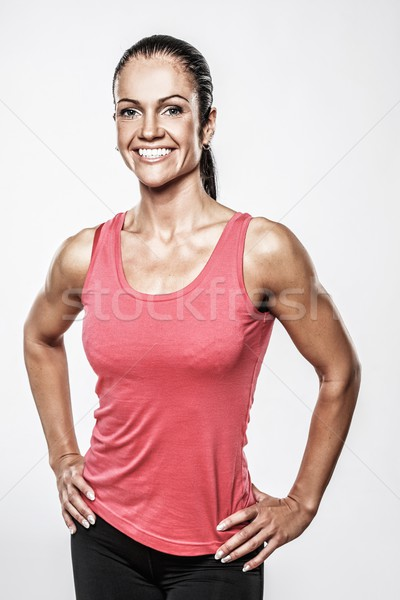 Beautiful athletic woman in sport club  Stock photo © Nejron
