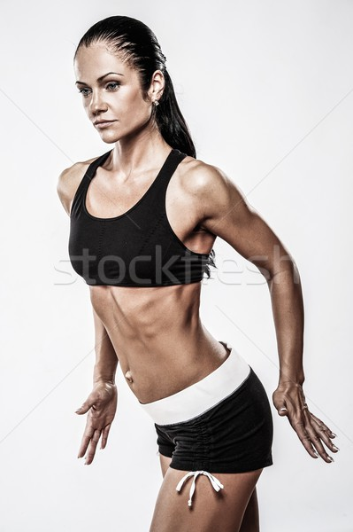 Woman with beautiful athletic body  Stock photo © Nejron