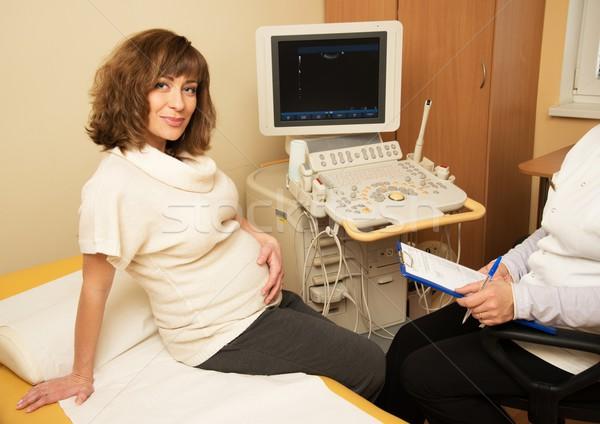 Giovani donna incinta ultrasuoni ospedale Foto d'archivio © Nejron