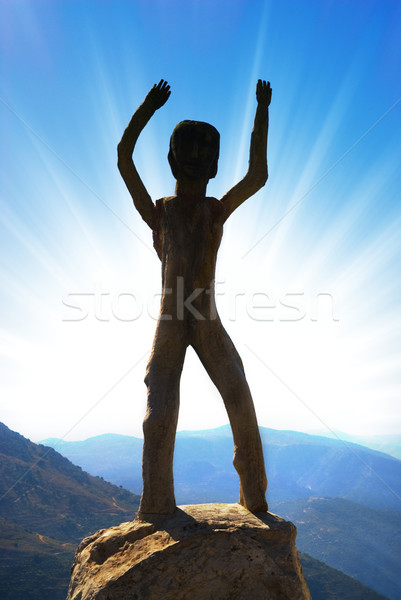 Homo sapiens sculpture in high mountains Stock photo © Nejron