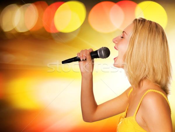 красивой молодые певицы аннотация женщину стороны Сток-фото © Nejron