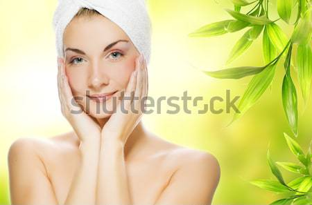 Beautiful young woman with aroma soap Stock photo © Nejron