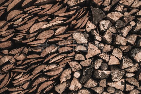 Stockpile of sawed logs Stock photo © Nejron