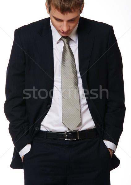 Young businessman isolated on white Stock photo © Nejron