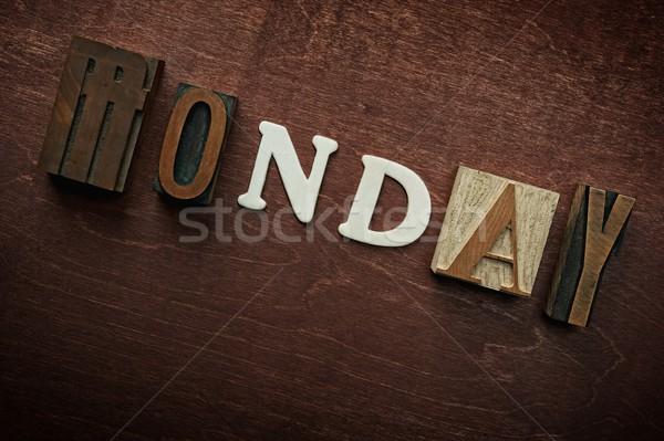 The word monday written on wooden background Stock photo © Nejron