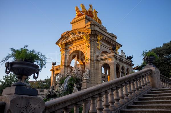 Fountain in a Parc de la Ciutadella, Barcelona Stock photo © Nejron