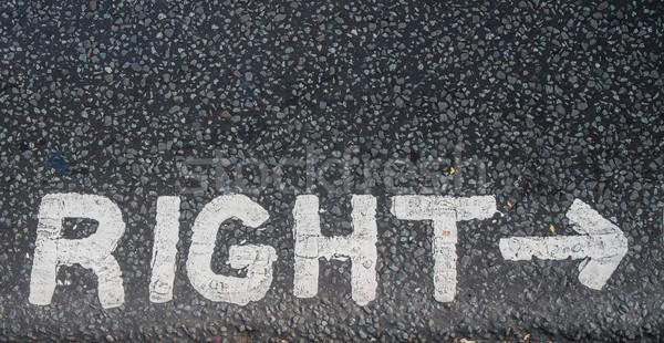 Turn right sign on an asphalt  Stock photo © Nejron