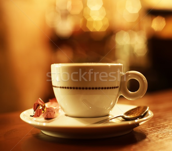 Coffee cup on abstract background Stock photo © Nejron